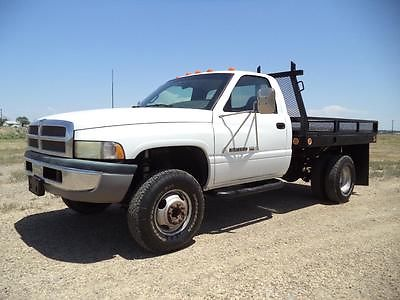 Dodge : Ram 3500 Flat Bed 1998 dodge ram 3500 4 x 4 dually flatbed 62 k orig miles make offer
