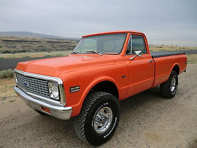 Chevrolet : C/K Pickup 2500 K20 1971 chevy k 20 4 x 4 restored 383 stroker ac over drive rust free like c 10 k 10