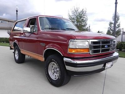 Ford : Bronco Eddie Bauer Sport Utility 2-Door 1994 ford bronco 4 x 4 351 v 8 new paint rust free clean title