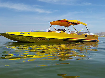 2001 Tom Papp Racing Mirage Deck Boat Jet BBC 21 ft same hull as Ultra Shadow 21