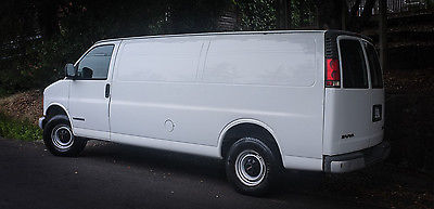 GMC : Savana Base Extended Cargo Van 3-Door 2000 gmc savana g 3500 stretch van truck 60 000 miles custom ramp