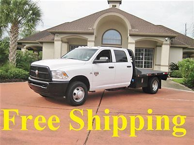 Ram : 3500 RAM 3500 ST DIESEL 4X4 FLATBED DUALLY DODGE RAM 3500 DIESEL 4X4 CREW CAB FLATBED 1-OWNER SERVICED FREE SHIPPING