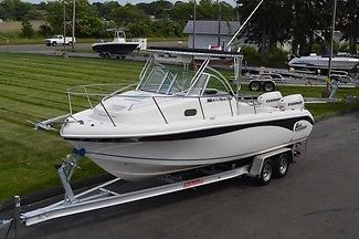 2006 SEA CHASER 2400 WA OFFSHORE, 24FT, TWIN ETEC 115HP'S, W/ 2015 ALUM. TRAILER