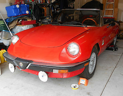 Alfa Romeo : Spider Veloce 1983 alfa romeo spider veloce running project