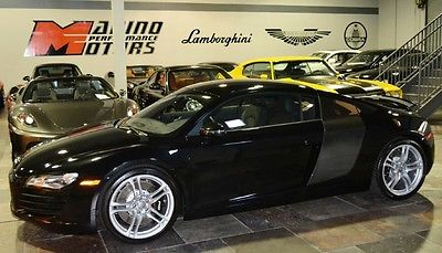 Audi : R8 Base Coupe 2-Door 2008 audi r 8 only 233 original miles 1 of a kind loaded with options