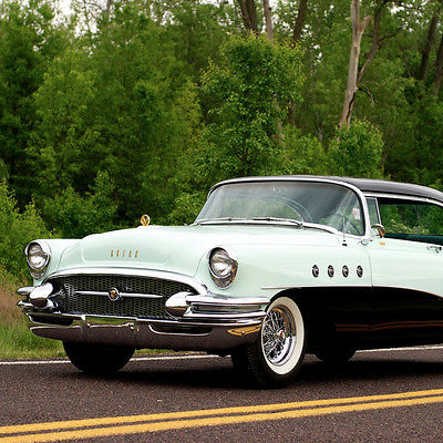 Buick : Other Riviera Roadmaster 1955 buick roadmaster 2 door hardtop ps pb factory rear air pw superb condition