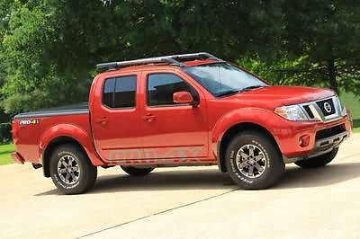 Nissan : Frontier PRO-4X 14 nissan frontier pro 4 x luxury 4 x 4 navigation leather sunroof crew cab loaded