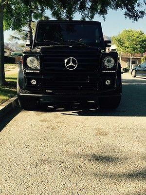 Mercedes-Benz : G-Class G500 4 door Mercedes Benz Black G500 Brabus Gwagon
