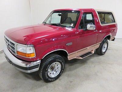 Ford : Bronco EDDIE BAUER 1994 ford bronco eddie bauer 5.8 l v 8 auto 4 wd colorado owned 80 pics