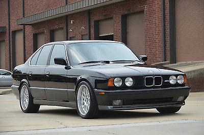BMW : M5 E34 1991 bmw m 5 e 34 black on black dinan 5 speed euro spec wheels mint best on ebay