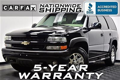 Chevrolet : Tahoe Z71 4x4 Loaded Z71 4WD Nationwide Shipping 5 Year Warranty Leather Sunroof Truck SUV