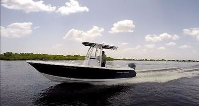 2014 Sea Hunt Triton 210 Center Console Yamaha 150 H.P.  28 hrsvideo