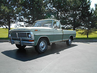 Ford : Other Pickups SURVIVOR, BARN FIND, UNMOLETED 2-OWNER ACTUAL MILE 1970 ford f 100 2 owner unmolested true survivor with 50 388 actual miles