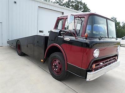 Ford : Other Pickups FREE SHIPPING! C600 Cab-Over (COE) Custom Car Hauler: 370, Allison Auto, Winch, 100% RESTORED!!