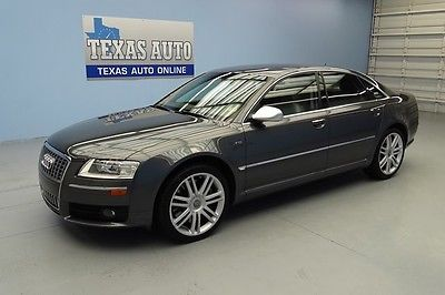 Audi : S8 S8 WE FINANCE! 2007 QUATTRO 450 HP ROOF NAV HEATED LEATHER REAR SHADE TEXAS AUTO