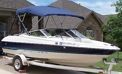 NICE 1995 BAYLINER CAPRI 1700 WITH 120HP MERCURY FORCE OUTBOARD MOTOR W/TRAILER & Bayliner 120 Boats for sale