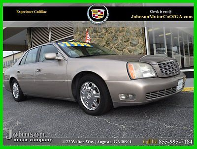 Cadillac : DeVille LEATHER 2004 cadillac deville automatic 4.6 l v 8 onstar gold heated leather seats