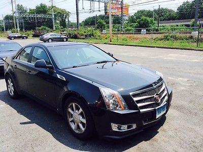 Cadillac : CTS 4 door sedan 2009 cadillac cts excellent condition black black 4 door sedan awd glass roo