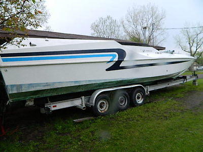 42 ft Boss Cougar Racing Runabout Semi Vee twin 460 s pro rebuilt, project boat
