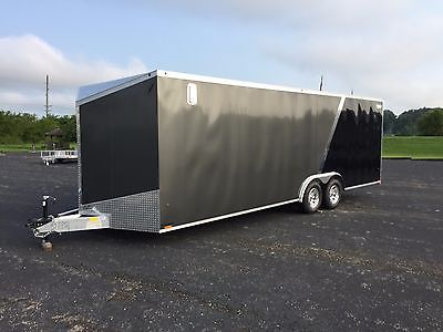 New 2016 All Aluminum Enclosed 8' x 24 plus V nose CAR/RACE W/ 5000 lbs Axles