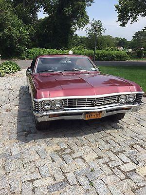 Chevrolet : Impala 1967 chevy impala 454 big block 2 door hardtop maroon, 0