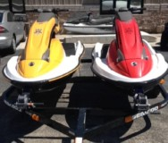 Two NEW 2005 Sea-Doo 3D Premium personal watercraft AND Sea-Doo 2-place Trailer