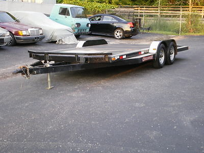 2009 IRONWORKS CHALLENGER 18FT CAR TRAILER, BUILD IN STORAGE COMPARTMENT