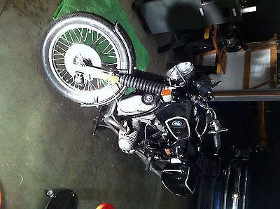 BMW : R-Series 1974 bmw r 90 6 good condition black with white pin stripes bags and rack