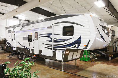 2015 356QLB New Slide Out 5th Fifth Wheel Toy Hauler Travel Trailer Camper Bunks