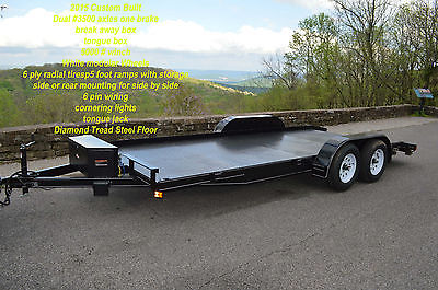 Car Hauler,Farm Trailer,ATV Trailer,Free winch and Tongue Box