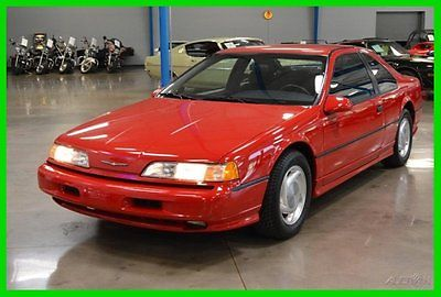 Ford : Thunderbird Super Coupe 90 ford thunderbird sc 3.8 l supercharged v 6 automatic super coupe 33 k miles