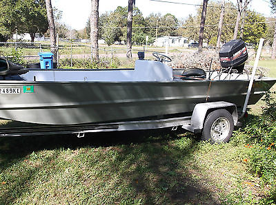 Jon Boat  Flat  Bottom 20 Foot By 8 Foot Wide