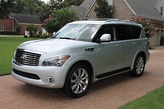Infiniti : QX56 4WD 7-passenger One Owner Perfect Carfax  Theater Pkg Deluxe Touring Pkg 22's MSRP New $72505