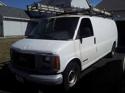 GMC : Savana 3500 2000 gmc savana 3500 base extended cargo van 3 door 5.7 l rack shelves lot nr