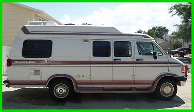 1996 Pleasure-Way SRL 19' Class B Dodge V8 Gas Generator Lots of Storage UTAH