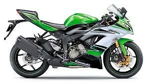 Kawasaki : Ninja 2015 kawasaki ninja zx 636 in green and white m r