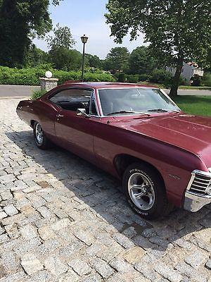 Chevrolet : Impala 1967 chevy impala 454 big block 2 door hardtop maroon, 1