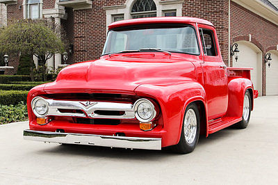 Ford : Other Pickups F100 Pickup 56 ford f 1 custom frame off restored automatic street rod high end build steel