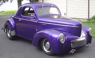 Willys : Coupe 1941 willys coupe 350 sbc 225 hp ghost flames rebuilt 4200 miles