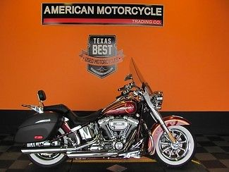Harley-Davidson : Softail 2014 used red harley davidson cvo softail deluxe screamin eagle 1 one owner