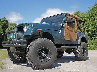 Jeep : CJ 1981 jeep cj 7 new motor new clutch new top doors 35 tires w 1000 miles