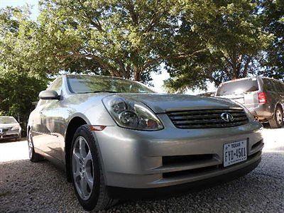 Infiniti : G35 Base Sedan 4-Door INFINITI G35 SEDAN 4 dr Gasoline 3.5L V6 Cyl Brilliant Silver Metallic