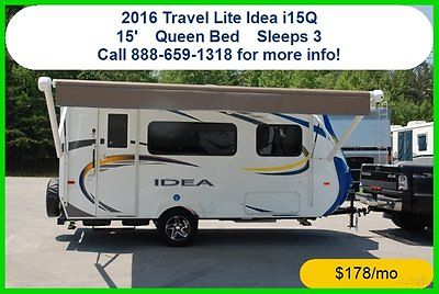 16 Travel Lite Idea i15Q Travel Trailer Towable RV New Pull Behind Camper MH