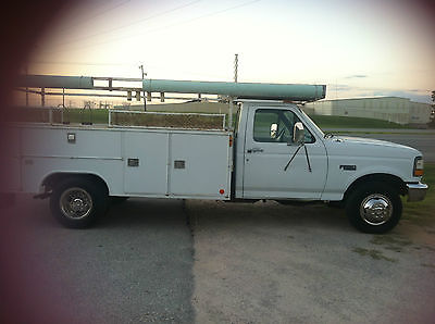 Ford : F-350 truck utility bed 1996 f 350 55 k original miles cold a c utility bed 6500