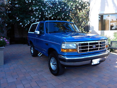 Ford : Bronco XLT GORGEOUS~WELL MAINTAINED~LOW MILES~1993,1996, 1991, 1992, 1990,1995, 1989