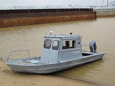 20' Aluminum Cab Work Boat Sea Ark Seaark Workboat