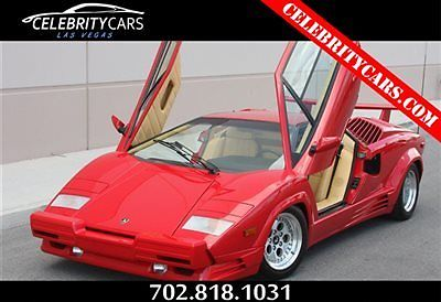 Lamborghini : Countach 1989 Lamborghini Countach 25th Anniversary Coupe 1989 lamborghini countach 25 th anniversary coupe only 12 k kilometers