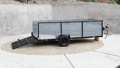 Gladiator Custom Diamond Tread-plate & Steel 4' x 8' Utility Trailer