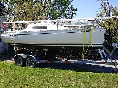 Sailboat Benetau First 235  with trailer