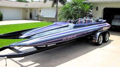ELIMINATOR SCORPION TUNNEL PICKLEFORK JETBOAT 454 BBC VDRIVE DRAG BOAT DAYTONA